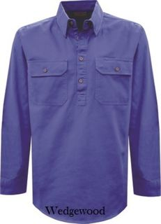 TC Heavy Drill Half Placket Shirt