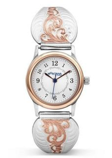 Montana Rose Gold Scrolls Ladies Expansion Band Watch