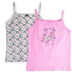 TC Girl's Singlet (Twin Pack)