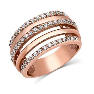Montana Layered Brilliance Rose Gold Ring