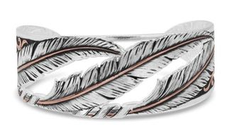 Montana Wind Dancer Pierced Feather Cuff Bracelet