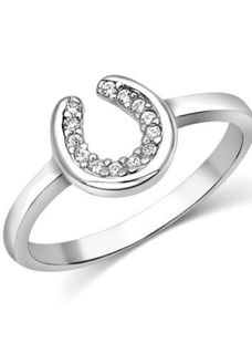 Montana Horseshoe Sparkle Ring