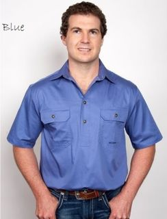 Just Country Adam 1/2 Button Short Sleeve