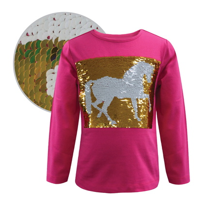 TC Girls Reversible Sequin Top