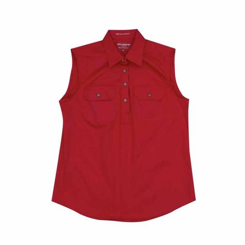 Just Country Kerry 1/2 Button Sleeveless Shirt