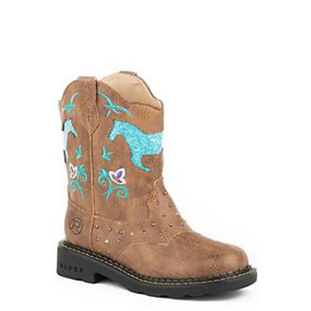Roper Horse Flowers Boots
