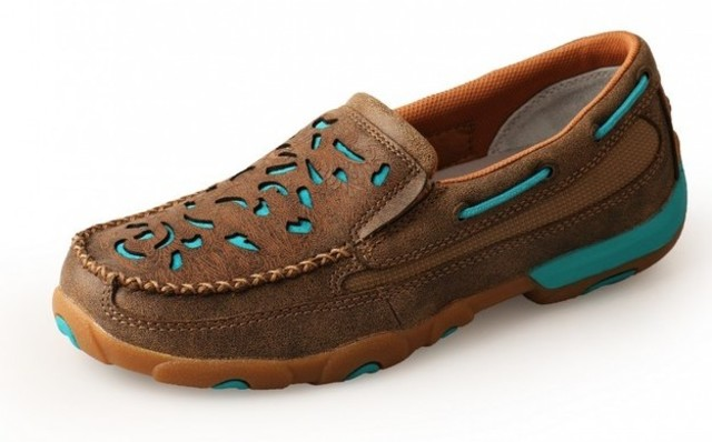 Twisted X Woman's Turquoise Cut Out Mocs Slip On