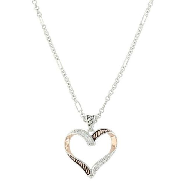 Montana Facets of Love Rose Gold Heart Necklace