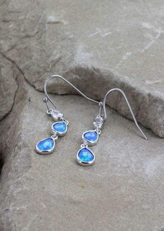 Montana River of Lights Falling into Water Earrings