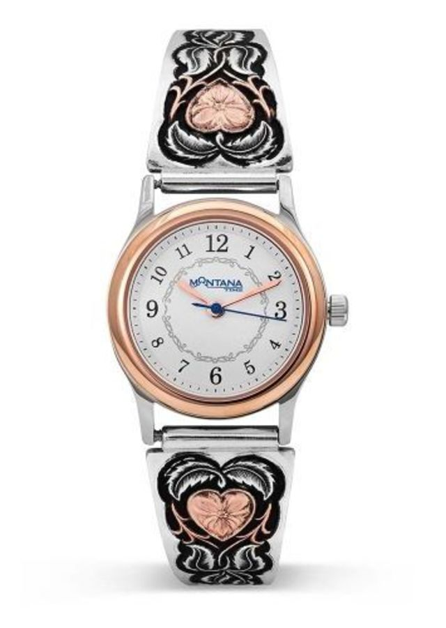 Montana Hearts of Gold Ladies Expansion Band Watch