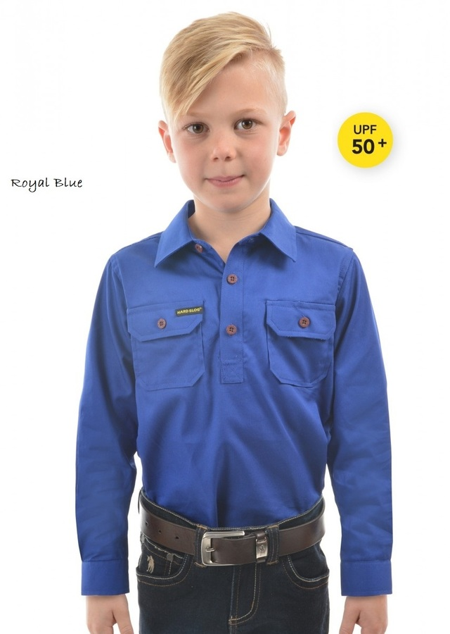 Hard Slog Half Placket Heavy Cotton Shirt